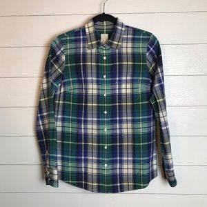J. Crew Boy Shirt in Quincy Tartan Plaid